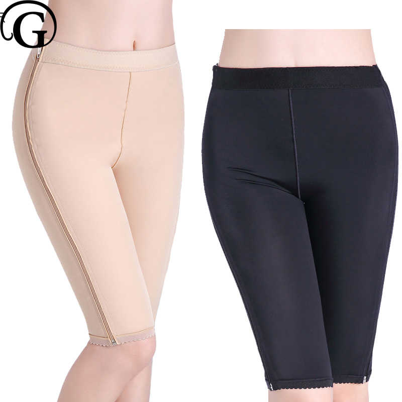 53b763743 PRAYGER Plus Size Recovery Body Control Panties Double Zipper High Compression  Thigh Shaper Medical Underwear