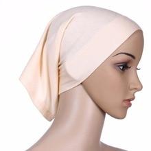 Islamitische Moslim Sjaals vrouwen Hoofd Sjaal Katoen Underscarf Hijab Cover Headwrap Effen Motorkap Islamitische Moslim Cover Hoofddoek