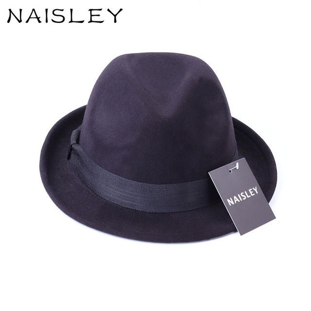 9f3ed31a3f0 NAILSLEY Original Unisex Structured Cotton Fedora Hats Head Size 58 cm  Solid Mens Fedora Floppy Wide Brim Winter Caps Cowboy Hat
