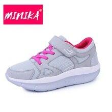 Comfort Women Walking Shoes Breathable Wearable Run Swing Shoes Light Swing Female Platform Sport Sneaker Aa11004