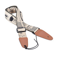 Comfortable Adjustable Guitar Shoulder Strap Synthetic Leather Ends for Acoustic Folk Classic Electric Guitars Bass(China)