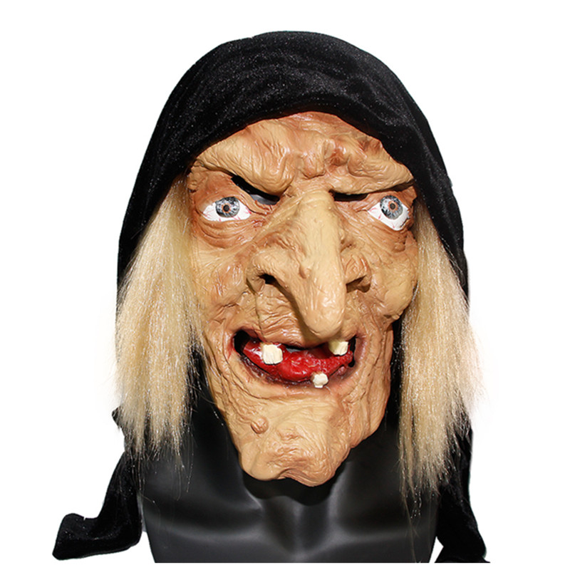 X-MERRY TOY Long Nose Horror Latex Witch Mask Halloween Festival Costume Party Tricky Cosplay Prop Free Shipping