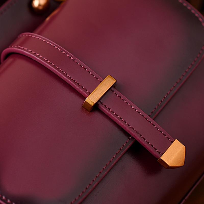 정품 가죽 여성 crossbody 가방 럭셔리 핸드백 여성 가방 디자이너 패션 어깨 가방 여성 리벳 여성 가방-에서숄더 백부터 수화물 & 가방 의  그룹 3
