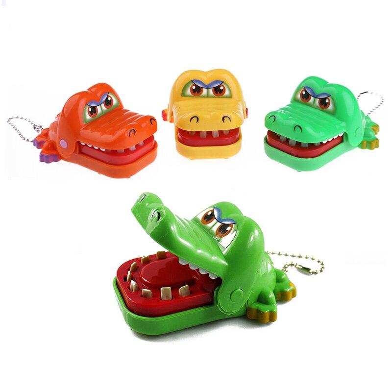 Funny New Cartoon Animal Biting Finger Toy Mini Crocodile Dentist Bite With Keychain Mouth Random Color