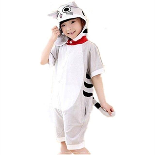 7670317222 Chi Sweet Home Cosplay traje verano jumpsuit manga corta niños animales  gato queso Pijamas onesie niños