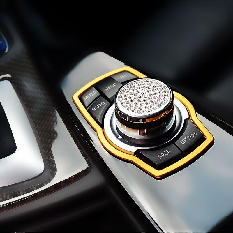 2013 Bmw X6 Interior: DWCX Gold Interior Multimedia Button Cover Molding Trim