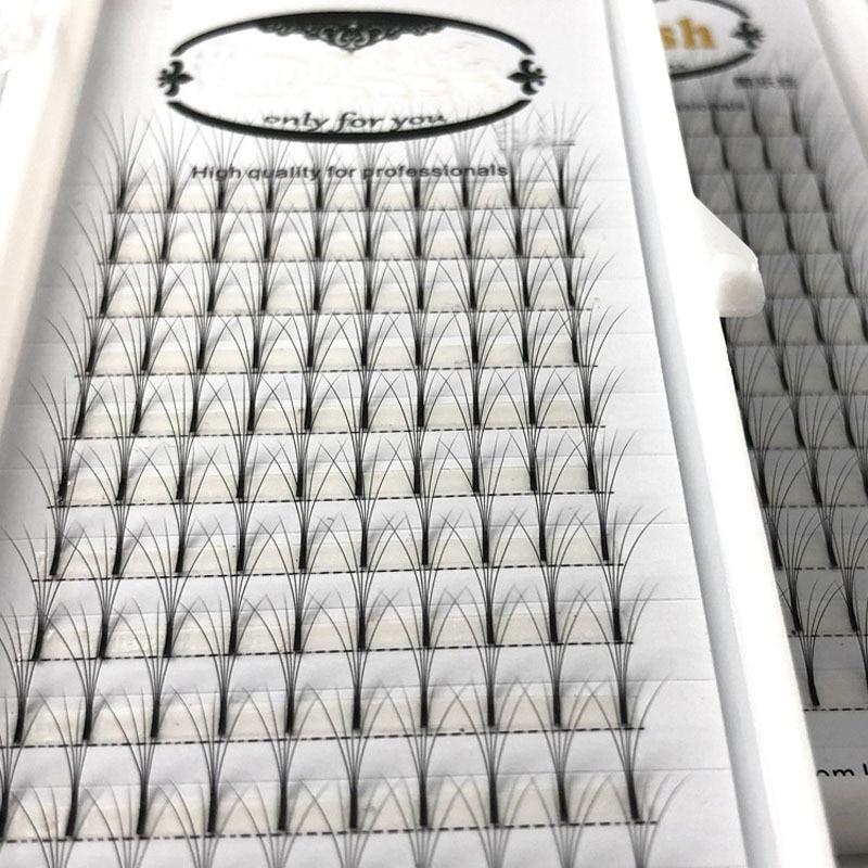 Beauty & Health 1 Tray 3d False Eyelashes Premade Fans Single Root Volume Clustered Eyelashes Sofe Long Black Professional Fake Mink Lashes Beauty Essentials