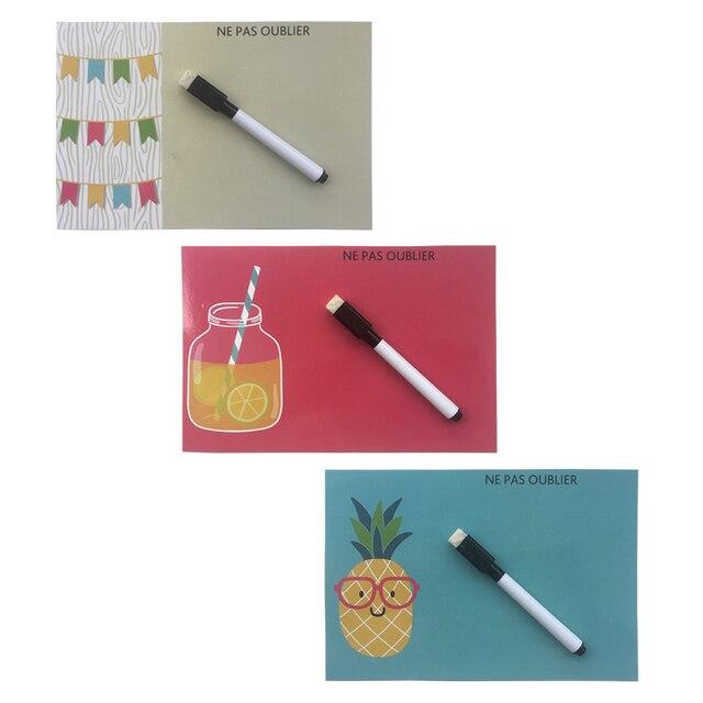 Летние stly печатных Dry Erase гибкий магнит на холодильник доски/доска объявлений/Memo Pad/диалоговое окно Магнит