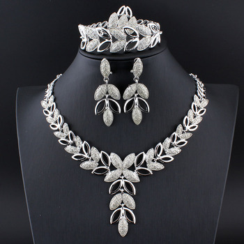 Luxury Floral Jewelry Set Jewelry Jewelry Sets Women Jewelry Metal Color: 1