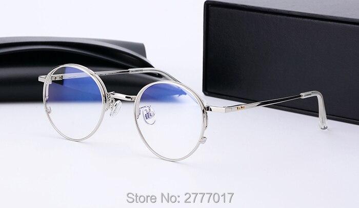 Aliexpress.com  Compre 2017 Nova Moda Rodada Do Vintage Óculos de Armação  de Metal Caro Clássico Suave Computador Marca prescrição Óculos de Armação  Oculos ... 36634ac816