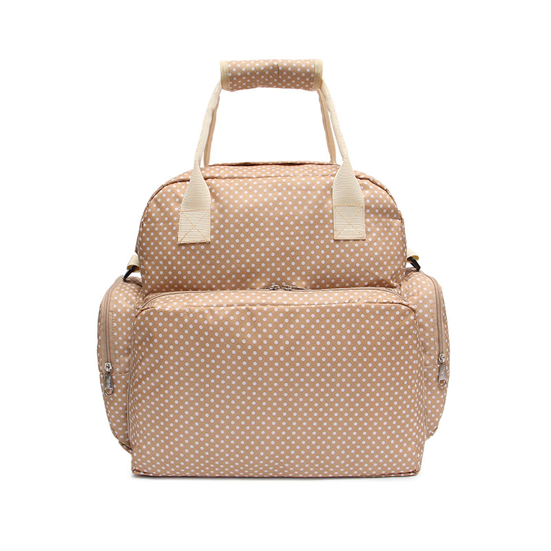 Diaper Tote Bags Larger Capacity Baby Nappy Bag Beige 5in1 Excursions Mummy Backpack  bag for new mother with a Changing Pad
