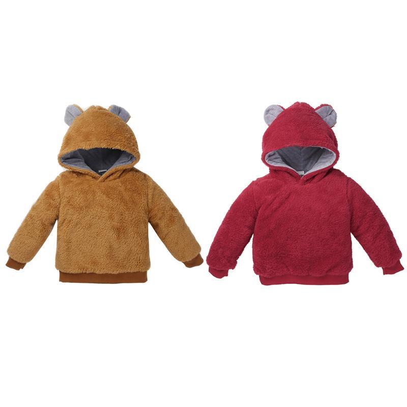 Fashion Autumn Winter Boys Girls Hoodie Coat Soft Casual Fleece Sweatshirt Clothing Long Sleeve Kids Hooded Coat