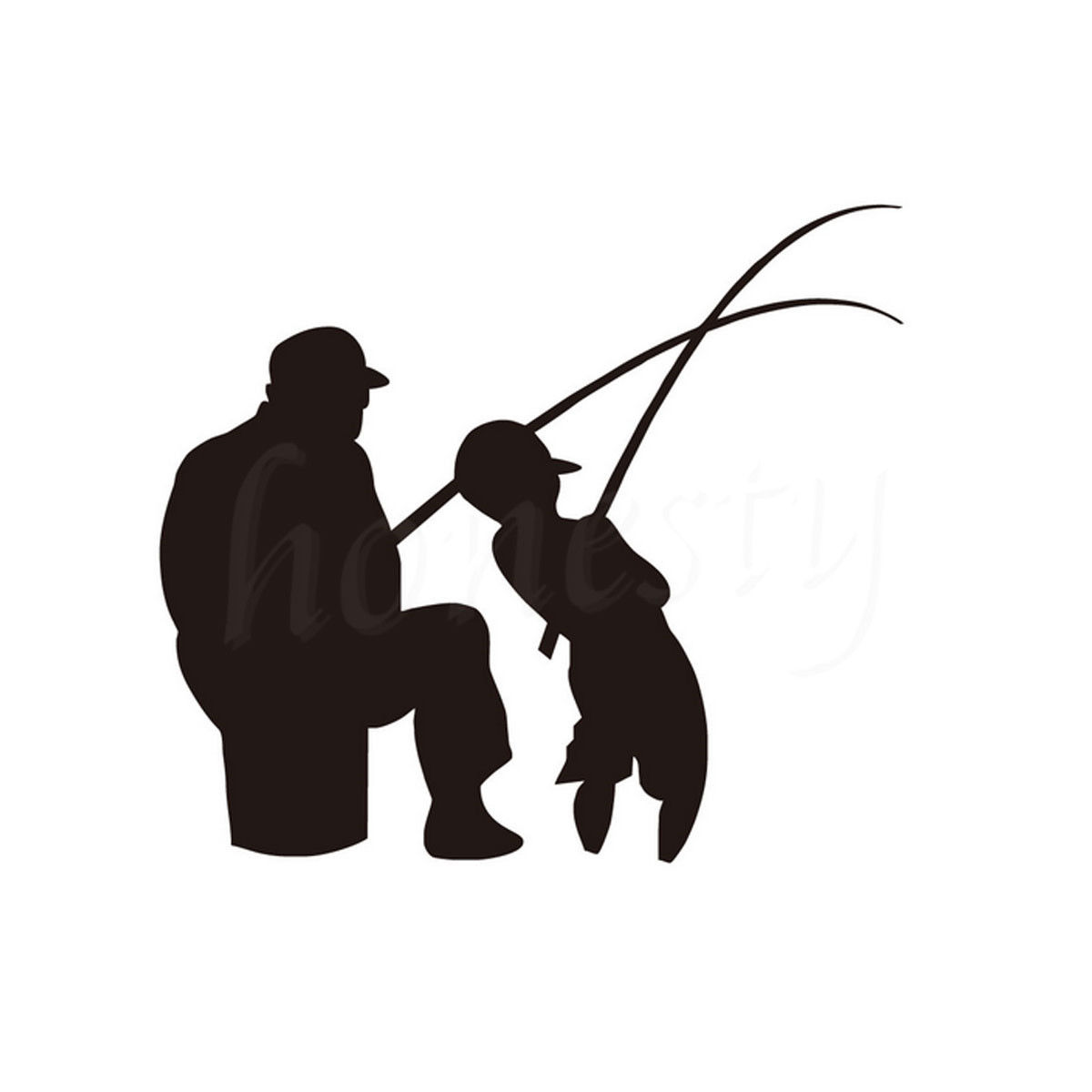 Download We have about ( files) royalty free vectors in ai, eps, cdr, svg vector illustration graphic art design format, river fishing bank clipart. Man and Boy Fishing Car Wall Sticker Home Glass Window 1svg.com