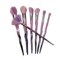 2017 New Makeup Brushes 7PCS Set Multicolored Synthetic Hair Diamond Shape Make Up Brush Collection Unicorn