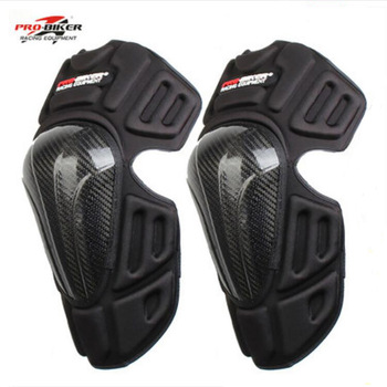 New PRO-BIKER Racing motorcycle protective Kneecaps knee pads elbow Rumble Knight equipment Made of Carbon fiber EVA FREE SIZE