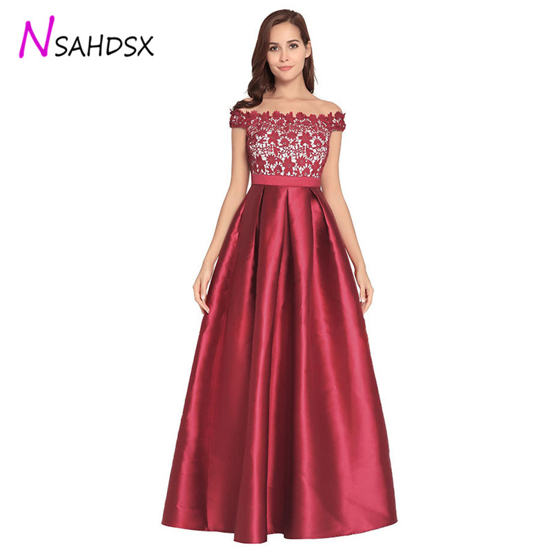 Femme soirée Sexy bretelles dentelle Patchwork nouvelle Maxi robe 2018 été dos nu Zipper élégant mariage longue robe Vestido