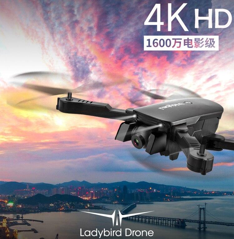 Nouveau R8 pliable Mini RC quadrirotor 4k selfie Drone HD double caméra FPV coccinelle maintien d'altitude flux optique hélicoptère drone rc