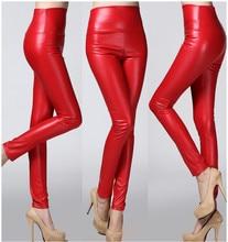 Здесь можно купить  Autumn winter Women clothing skinny PU leather pencil Leggings slim faux Leather Pants female fashion thick fleece trousers