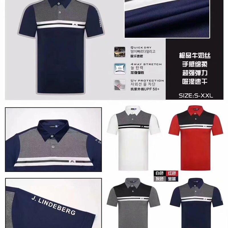 Chemise de Golf Cooyute dernier printemps été JL Golf sport chemise manches courtes anti-boulochage courte JL Golf T-Shirt livraison gratuite - 5