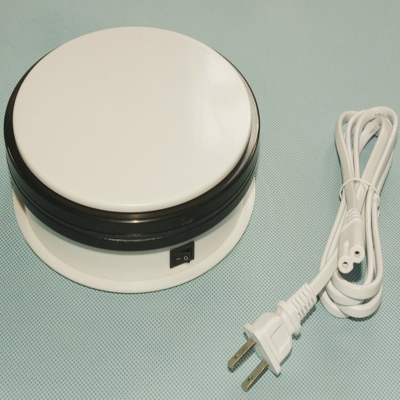 Merchandise Display Base 360 Degree Electric Rotating Turntable For Photography 15cm Automatic Revolving Platform