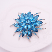 Quality Crystal Flower Brooch