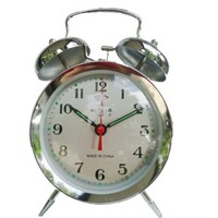 Vintage Old Fashioned Manual Clockwork Ultralarge Mechanical Alarm Clock Metal Horseshoe Alarm Clock
