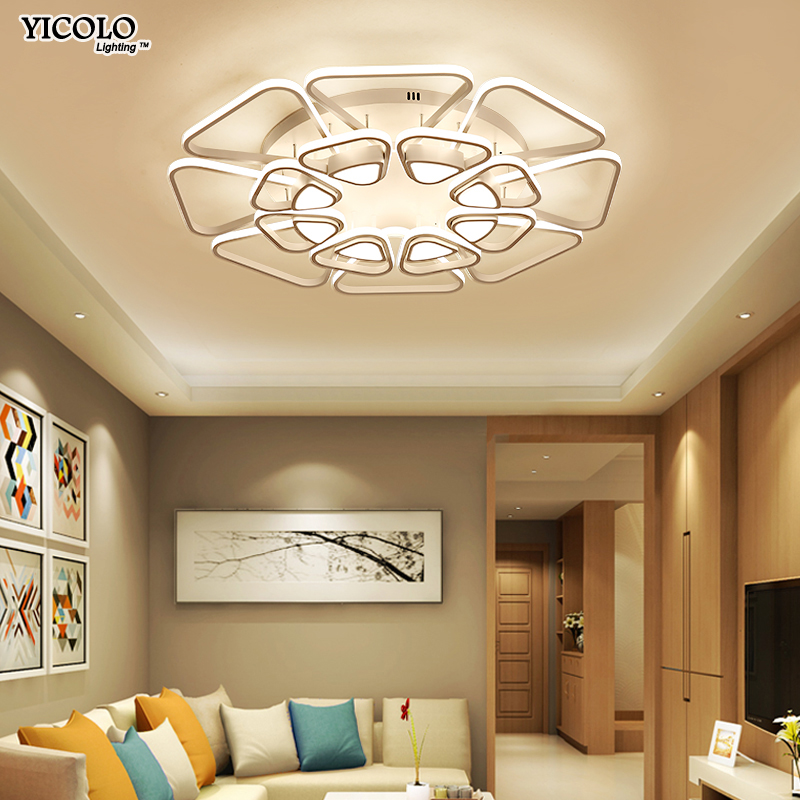 Dimming Surface mount Led Ceiling Lights For Living Room Bedroom Lamp FIxtures with Remote Control lamparas de techo abajur hot free shipping modern led ceiling lights for living room bedroom abajur dimmable remote control lamparas de techo