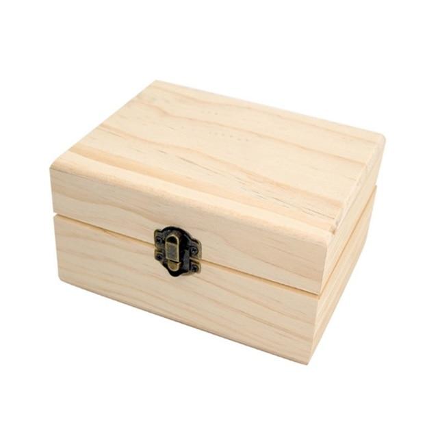 12 Compartments Wooden Essential Oil Storage Box Wood Box Tea Organizer Bag Box Jewelry Accessories Storage Container