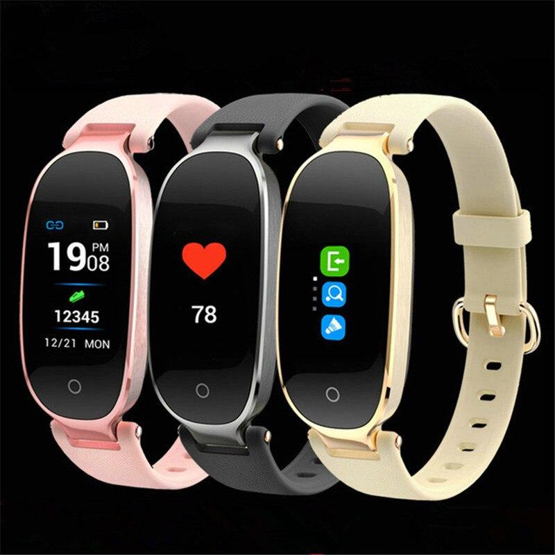 Montre Smart Watch Femmes Couleur Écran Moniteur de Fréquence Cardiaque Ladie De Mode Montre Étanche Multi Sport Fitness Activité Tracker Smartwatch