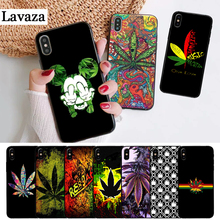 Lavaza Abstractionism Art high weed Silicone Case for iPhone 5 5S 6 6S Plus 7 8 11 Pro X XS Max XR