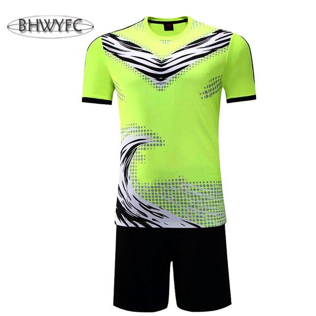 Bhwyfc mejor tailandés calidad fútbol Jerséis 2017 hombres Camisetas de Soccer  kits entrenamiento adultos Fútbol uniformes 574b3ecc89162