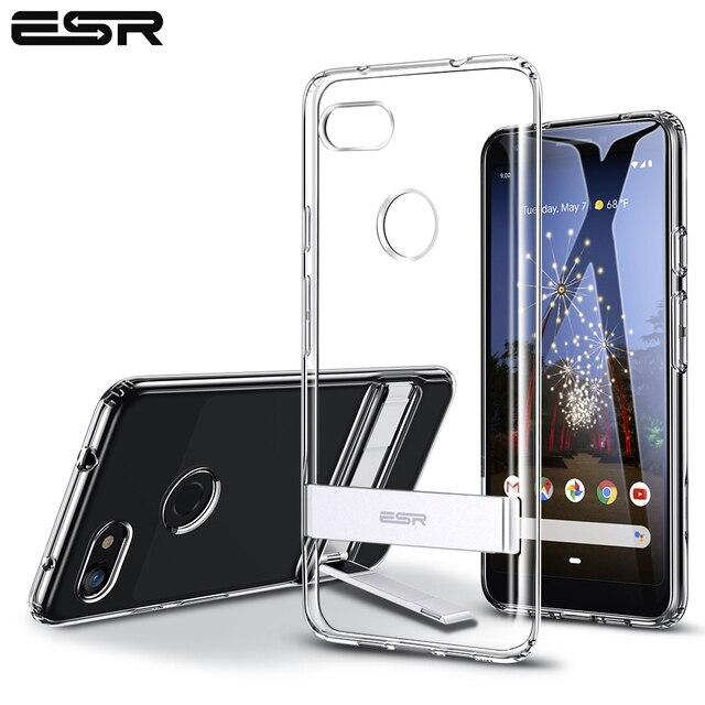ESR Metal Kickstand Case for Google Pixel 3a 3a XL Business Cover Shockproof Flexible TPU Phone Case for Google Pixel 3 3XL 4 XL