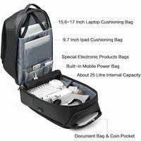 Men Travel Laptop Backpack Water Repellent Functional Rucksack with USB Port BB55