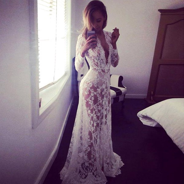 Fashion Lace Maternity Dresses White Maternity Photography Props  Pregnant Dress Pregnancy Dress for Maternity Photo Props