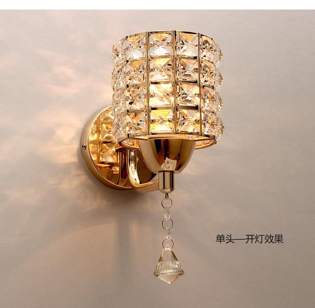 Chaud chambre de chevet lampe or cristal led mur lampe moderne simple salon TV fond murale.jpg 640x640 5 Superbe Lampe or Kdj5