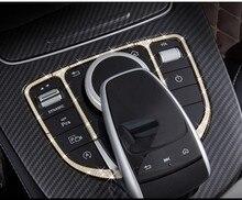 Автомобиль Управление мышь touchpad пуговицы Рамки крышка наклейка автомобиль-Стайлинг для Mercedes Benz GLC c e класса w205 W213