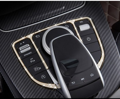 Car Control the mouse Touchpad buttons Frame Decoration Cover sticker Car-styling For Mercedes Benz GLC C E Class W205 W213 car seat cover automobiles accessories for benz mercedes c180 c200 gl x164 ml w164 ml320 w163 w110 w114 w115 w124 t124