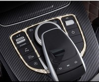 Car Control The Mouse Touchpad Buttons Frame Decoration Cover Sticker Car Styling For Mercedes Benz GLC