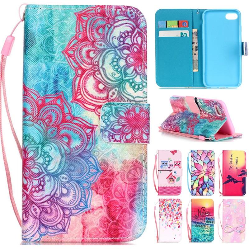 Untuk iphone 7 7 plus new fashion indah bunga menara owl balik kulit - Aksesori dan suku cadang ponsel - Foto 1