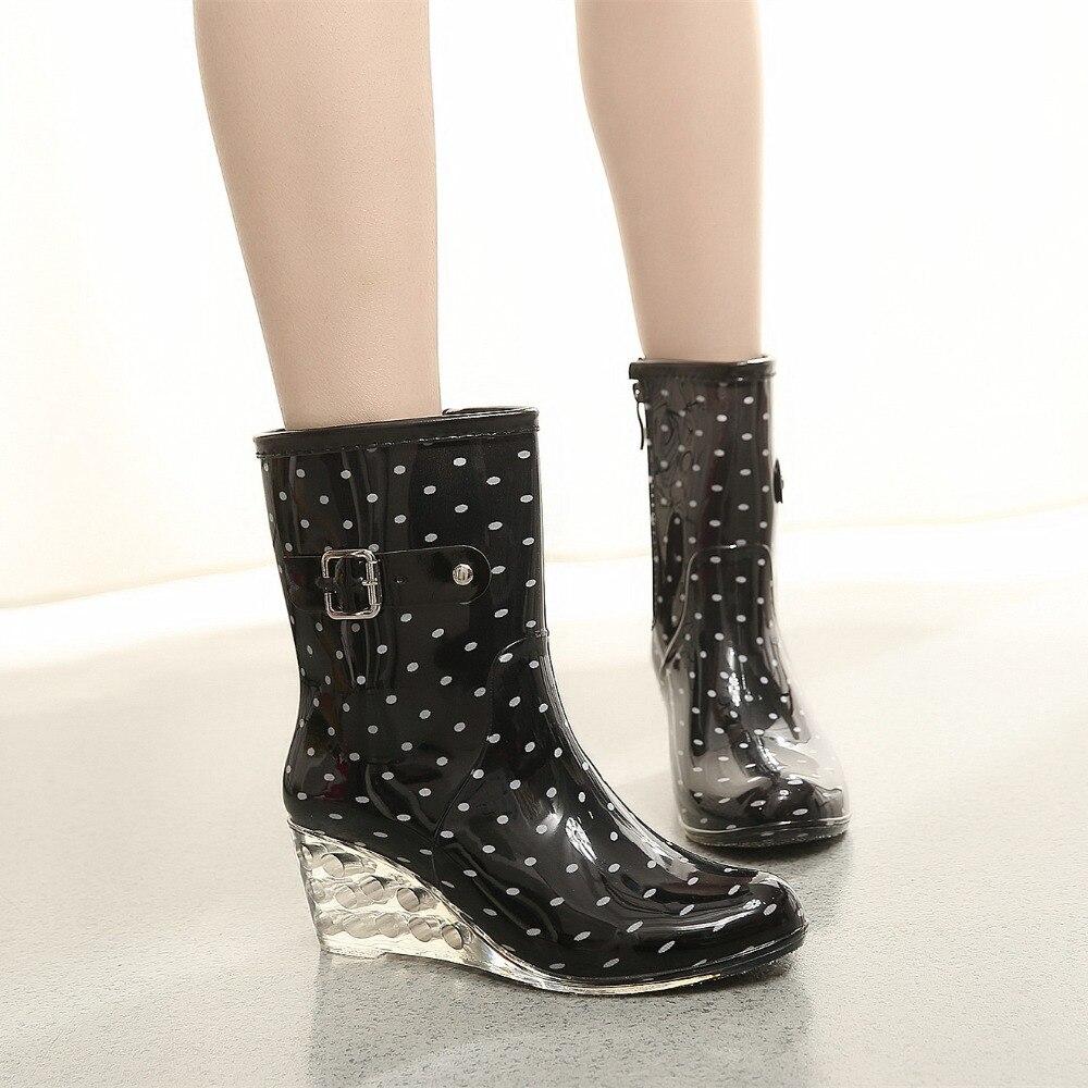 Unique TIIDA 2016 Fashion Waterproof Women Snow Boots Genuine Sheepskin Leather Winter Boots 100% ...