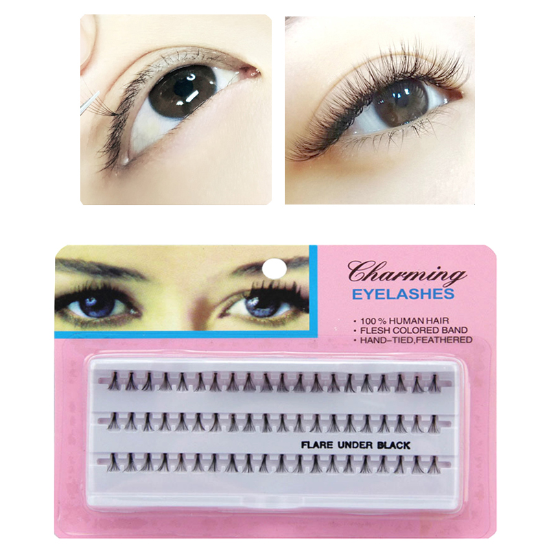 Us 199 60pcsset Individual Lashes Black False Eyelashes Natural Long Cluster Eyelash Extension Makeup Beauty Health Make Up 81012mm In False