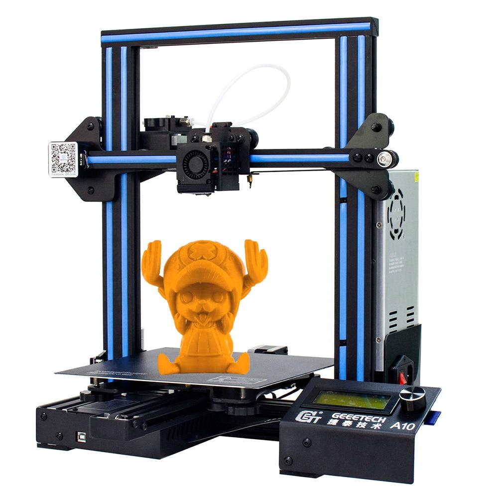 Imprimante 3D GEEETECH A10 Open Source assemblage rapide 0.4mm buse 220*220*260MM 180 mm/s capteur de Filament PLA LCD2004 avec FDM CE