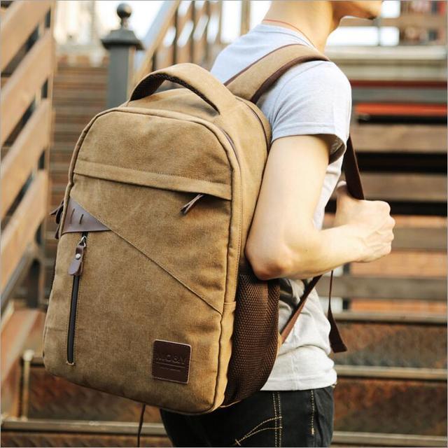 Multi-function recreation bag leisure men travel bag canvas bag men backpack students laptop bag