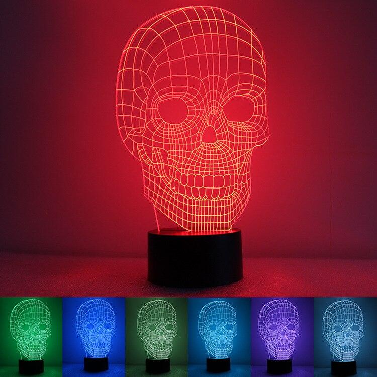 35c807d6a95 Envío Gratis unique 3D especial esqueleto forma LED lámpara de mesa con  alimentación USB