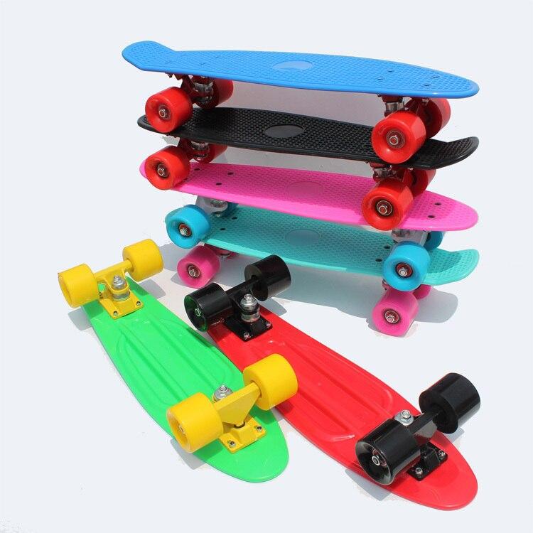 2018 подростков и детский улице skate совета четыре колеса банан peny стиль Cruiser pnny доска 22 скейтборды четыре колеса longboard