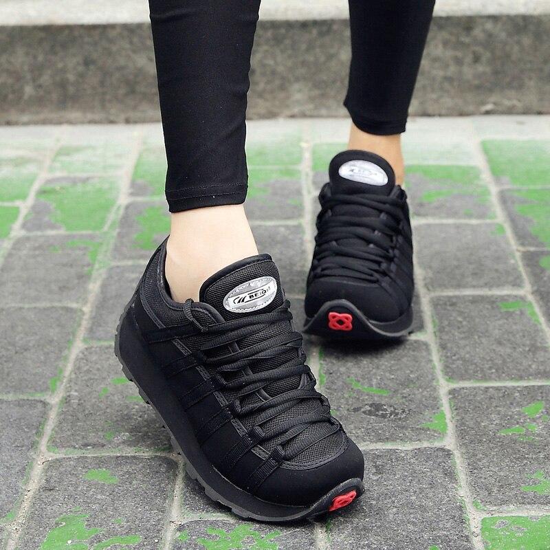 FOORAABO 2017 Nuevas Mujeres del Resorte Zapatos Casuales Zapatos de Mujer Trans