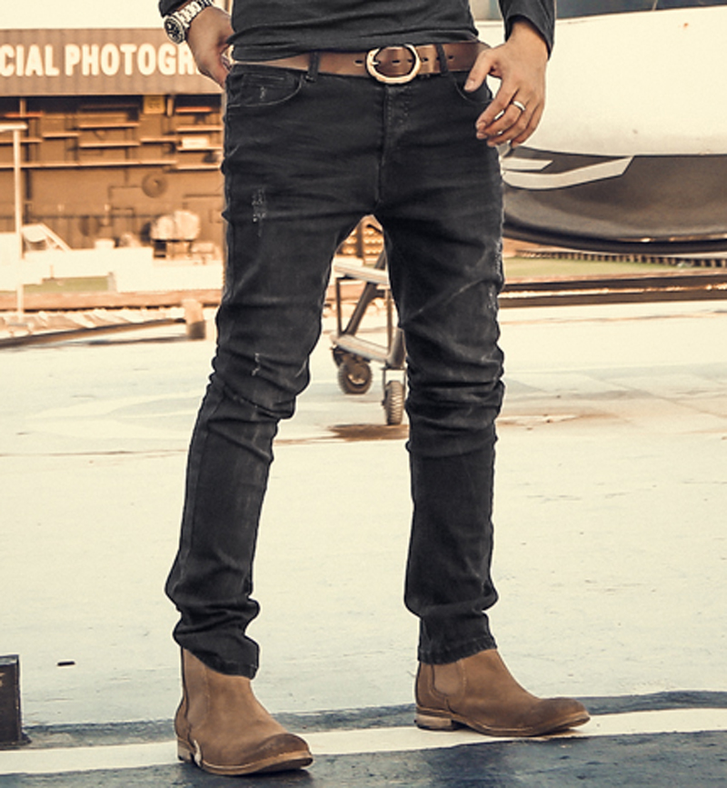 Brand Mens Jeans Slim Straight Stretch Pants Denim Trousers Jeans for Men Design Autumn and winter High quality fashion jeans