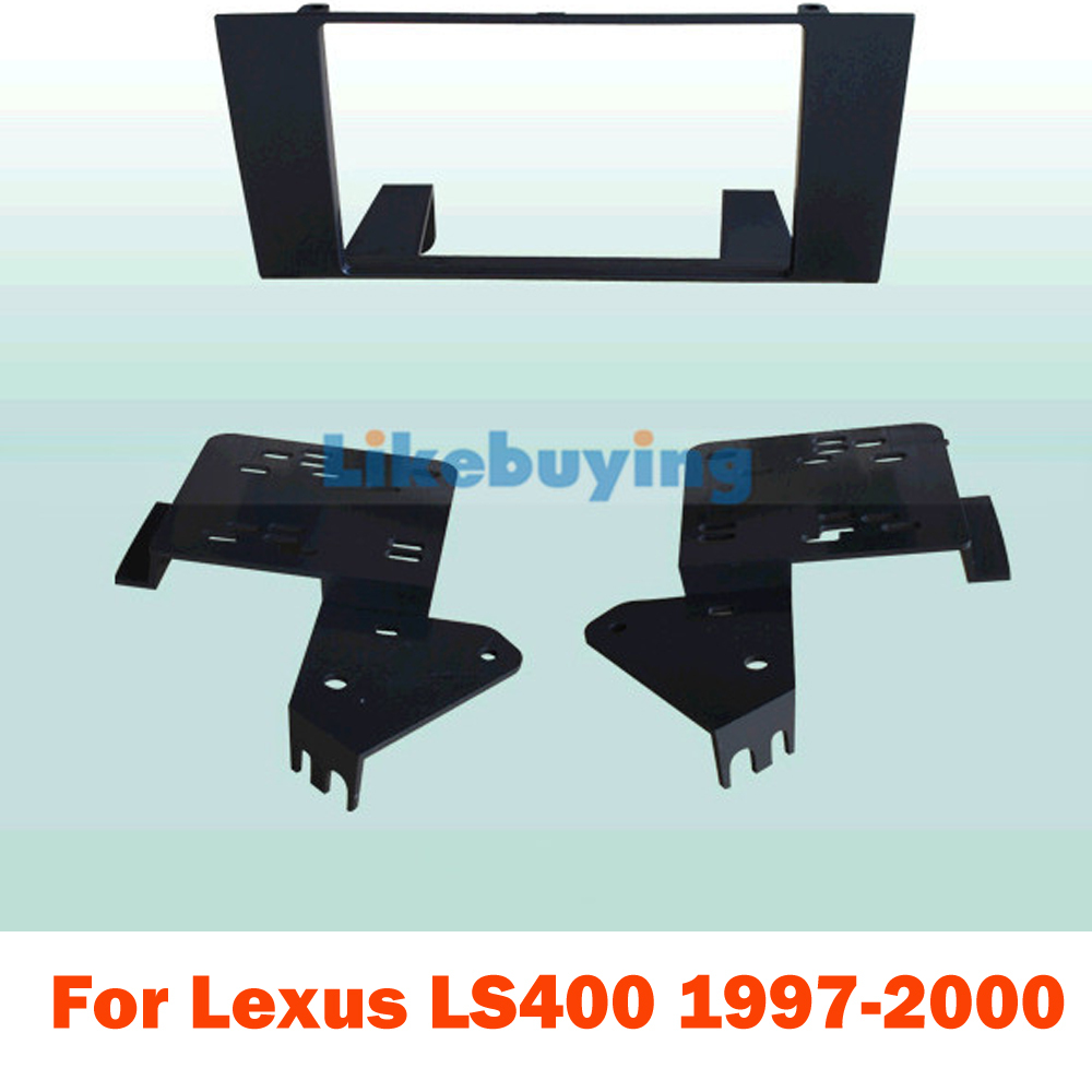 2 Din Car Fascia Panel Frame / Audio Panel Frame / Frame Dash Kit For Lexus LS400 1997 1998 1999 2000 Retail / Pcs Free Shipping free shipping car refitting dvd frame dash cd panel for buick excelle 2008 china facia install plate ca4034