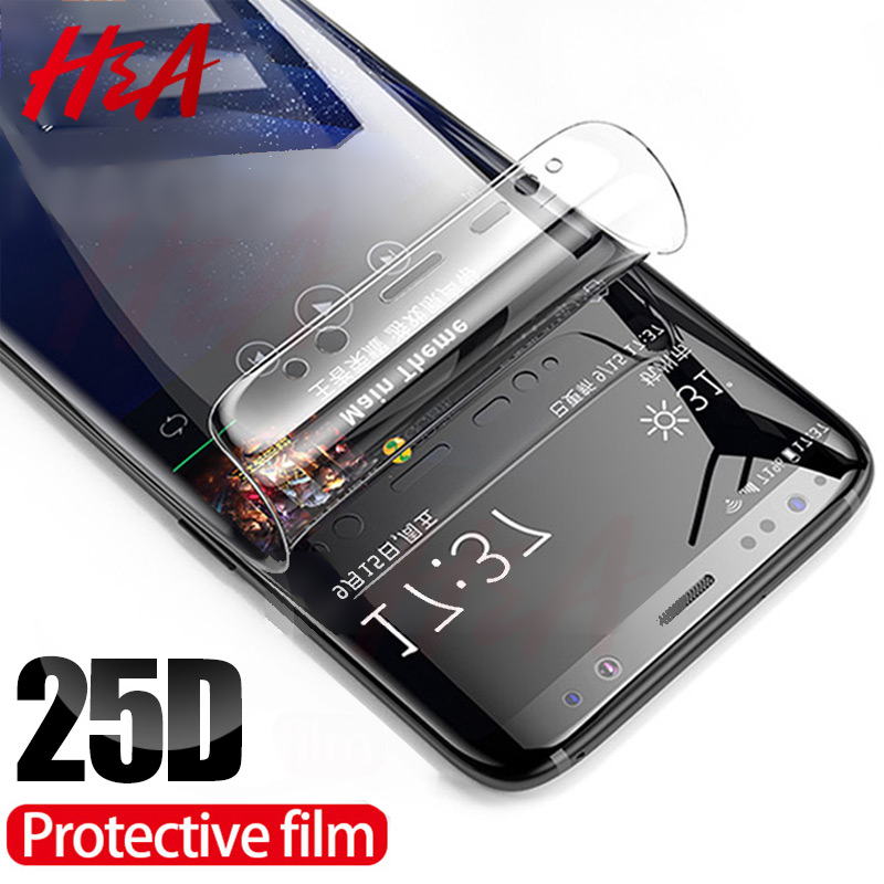 Image 1 - H&A 25D Full Curved Screen Protector For Samsung Galaxy S9 Plus S8 Plus Note 8 Not Tempered Glass For Samsung S10 Plus S10E Film-in Phone Screen Protectors from Cellphones & Telecommunications