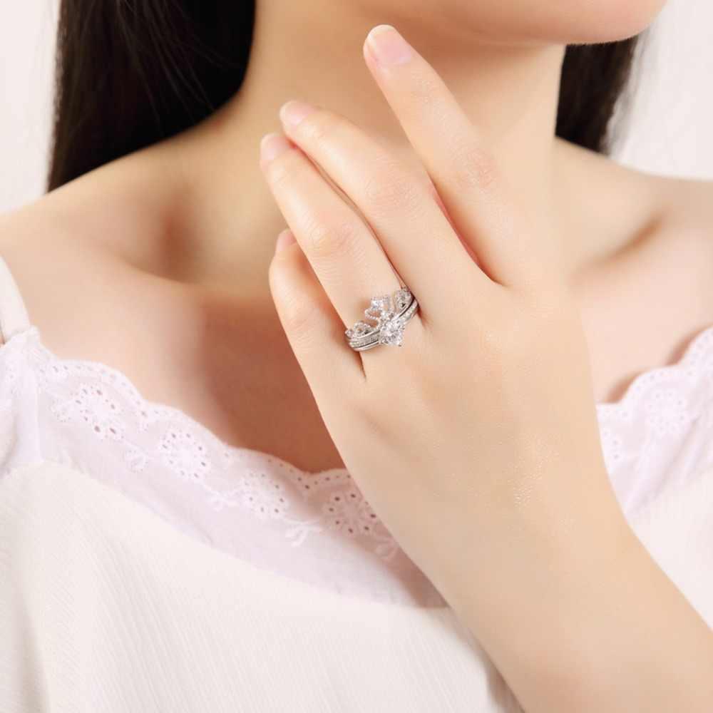 UMODE, розовое золото, женские кольца с короной, ювелирные изделия, любовь, богемный стиль, обручальные кольца для женщин, anillos grandes de mujer UR0443A